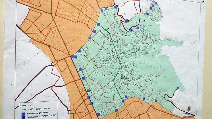 La Zona 30 afecta a la parte centro de la ciudad principalmente. Foto: Luis F. Ruiz (Pulse para ampliar)