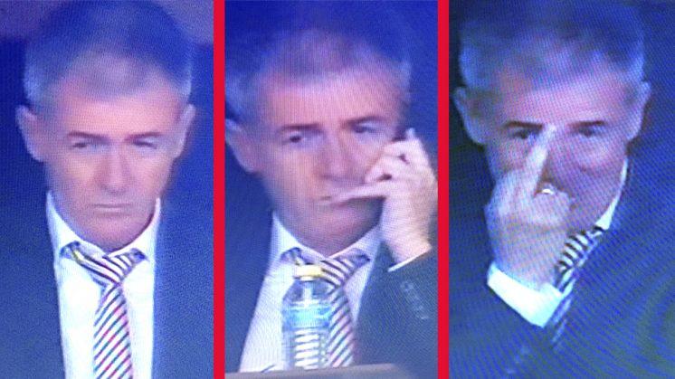 Así vivió Alcaraz el partido ante el Sevilla, con 'peineta' con sonrisa incluida. Imágenes: Bein Sport